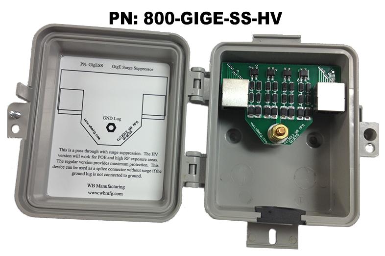 Outdoor Ethernet Surge Protector 1000 Mbps Lightning