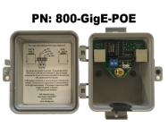 Outdoor GigE POE Injector / Surge Protector-Suppressor-Arrestor