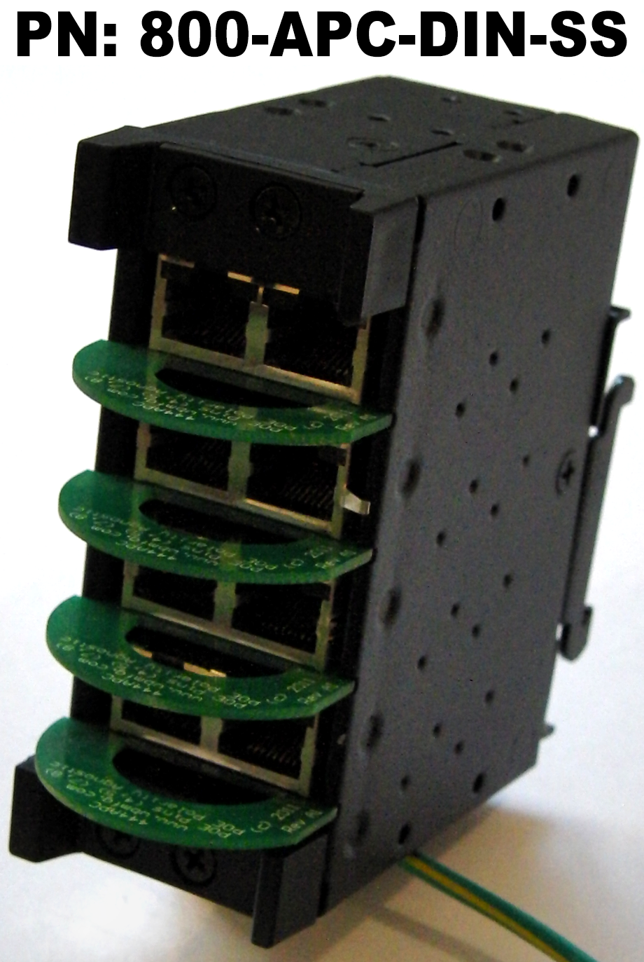 4 Slot DIN Mount Chassis accepts Surge Suppressors/Protectors