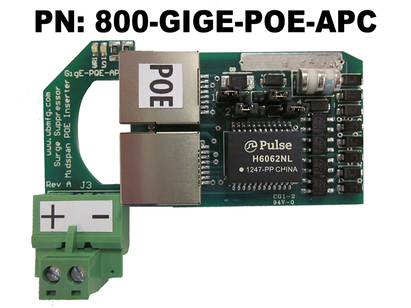 Rack Mount POE Injector Surge Protector-Suppressor