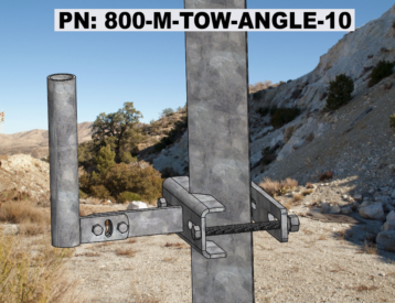 Basic Angle Iron Tower Mount 10 Inch