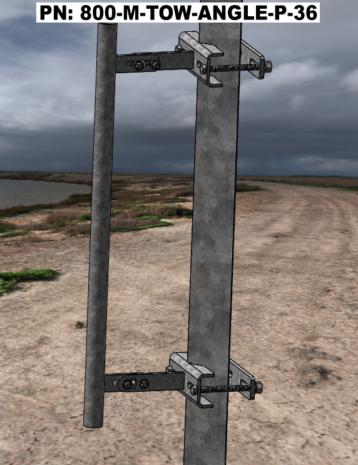 Angle Iron Leg Standoff 36 Inch