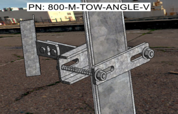 Angle Iron Tower V Block Pipe Standoff Mount