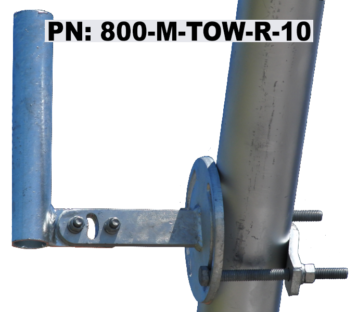 Horizontal Member Tower Mount - 10 Inch Pipe