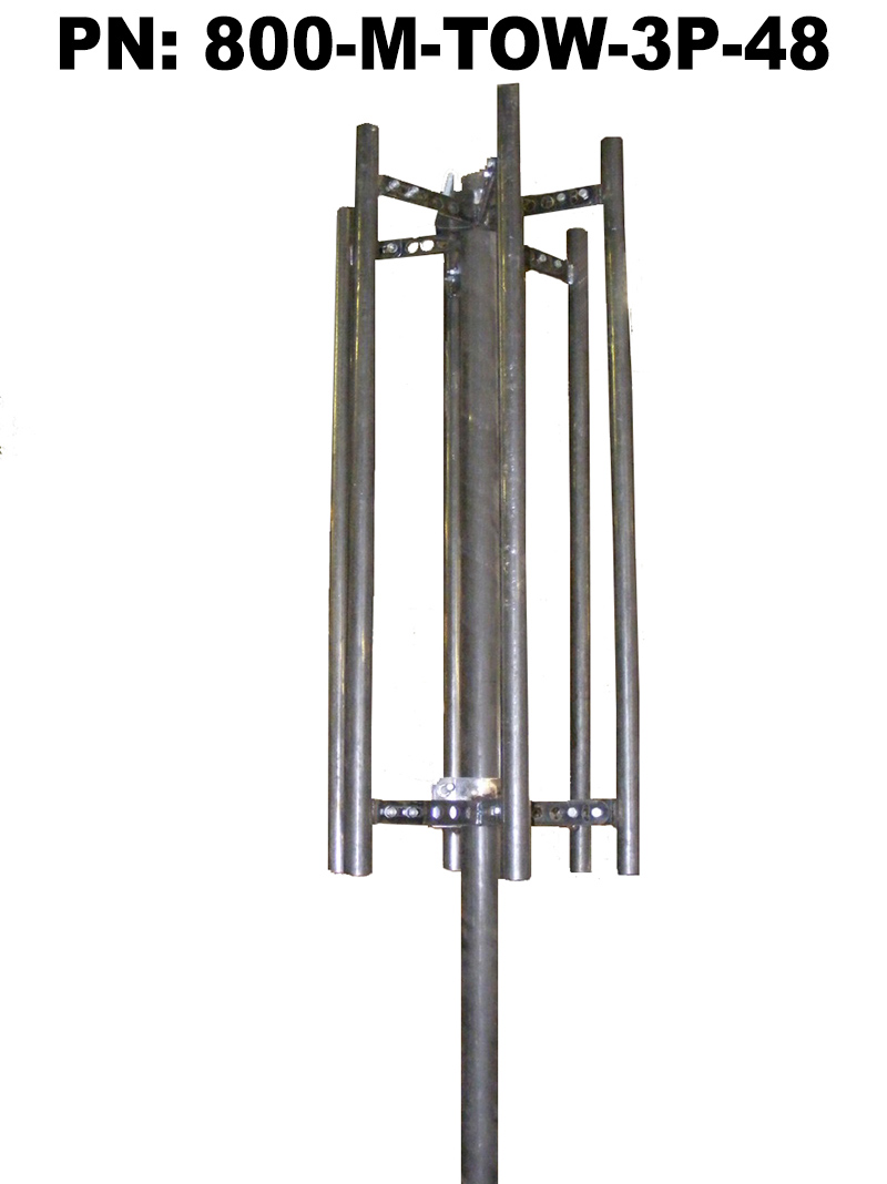 """Triple Standoff Pipe Sector Antenna Mount with 3 x 48"""" Masts"""