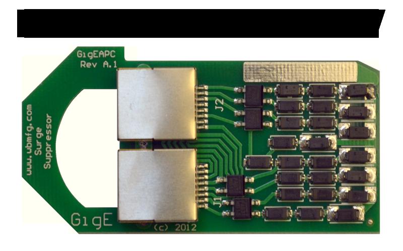 Rack Mount 100 Mbps Ethernet Surge Protector