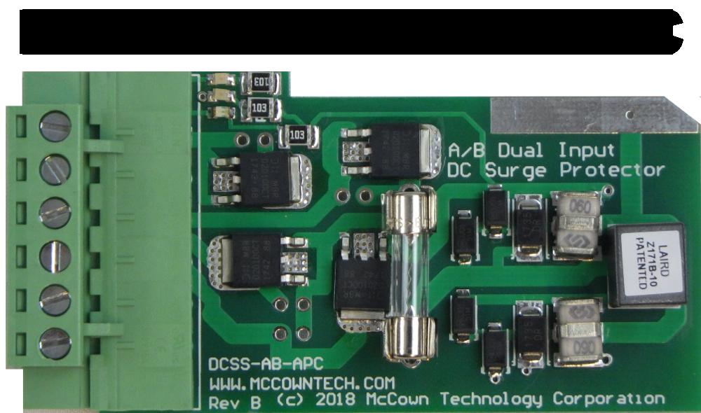 Dual input DC surge protector